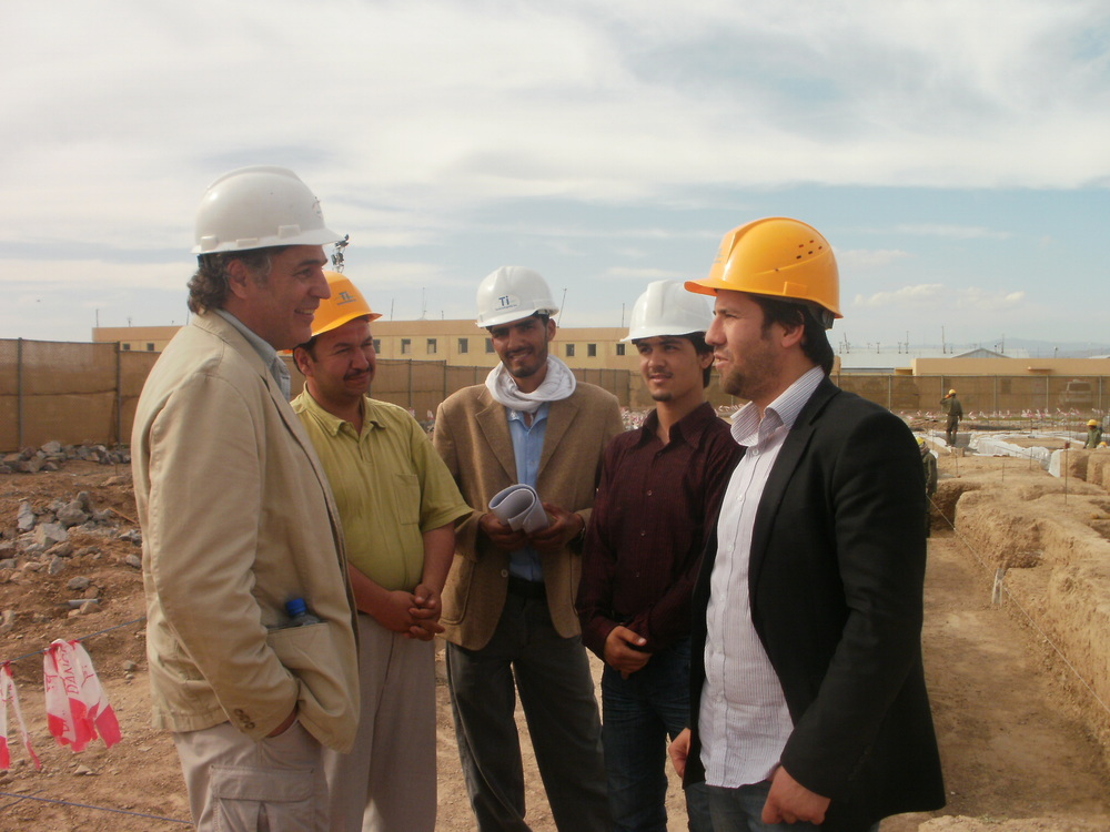Onsite with Afghani Project Managers