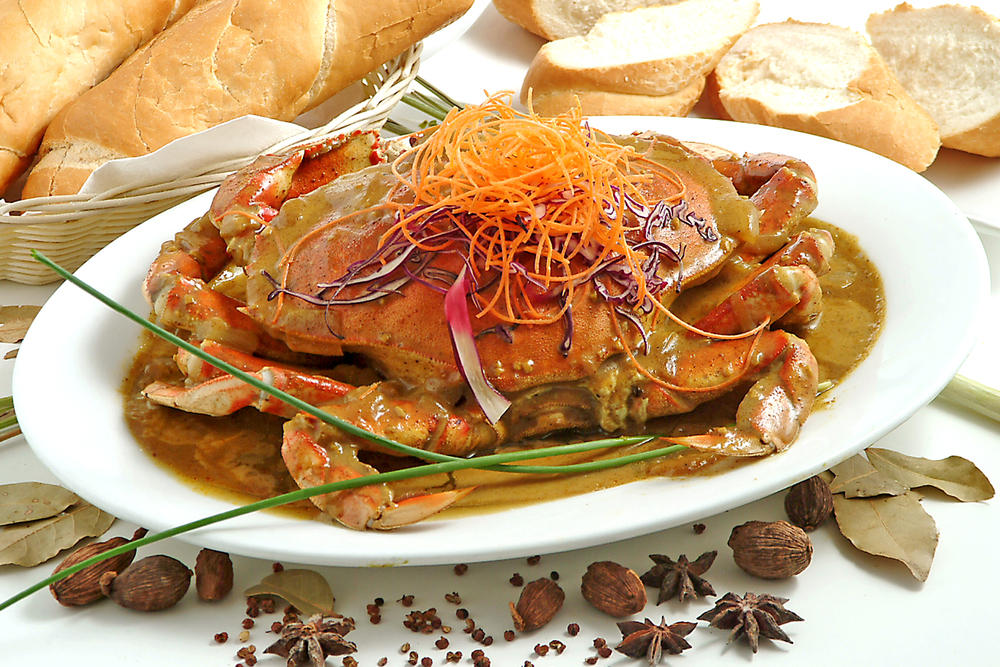 Sauteed Curry Crab