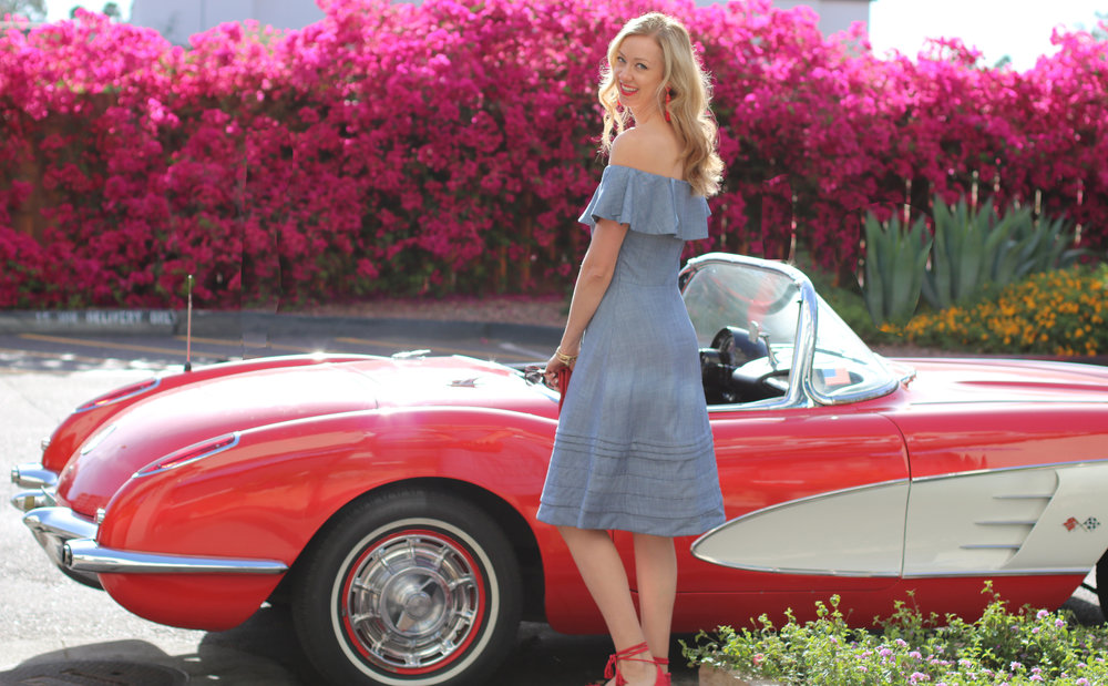 Banana-Republic-Denim-Chambray-Off-the-shoulder-dress-red-corvette.jpg