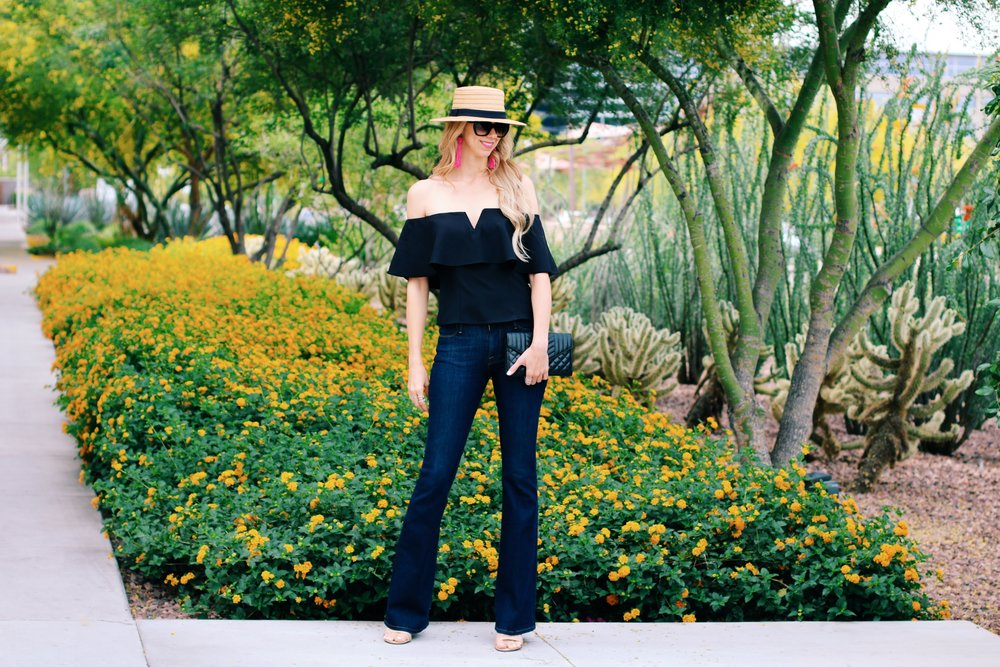 Leith-top-Nordstrom-frame-flare-jeans-boater-hat-1.jpg