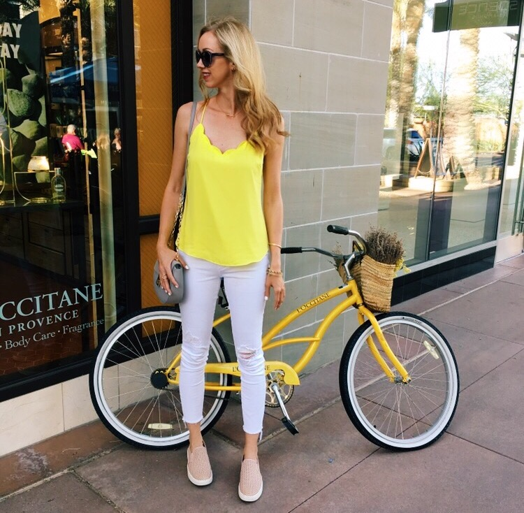 Yellow-scallop-tank-top-cami-ripped-white-jeans-j.crew.jpg