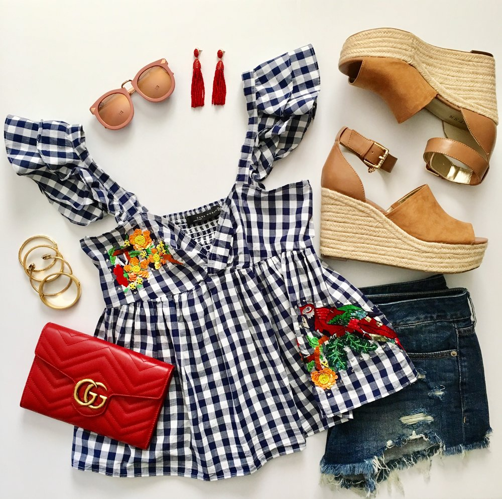zara-gingham-top-embroidered-denim-cut-off-shorts.jpg