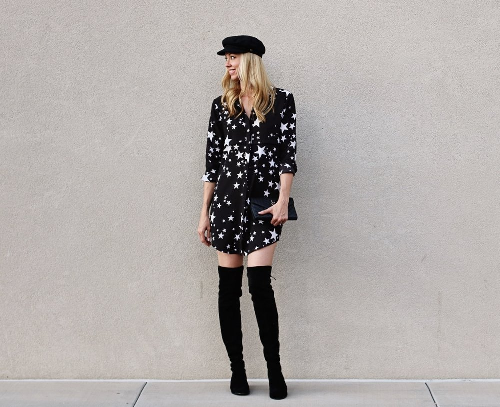 star-shirt-dress-black-and-white-over-the-knee-suede-boots.jpg