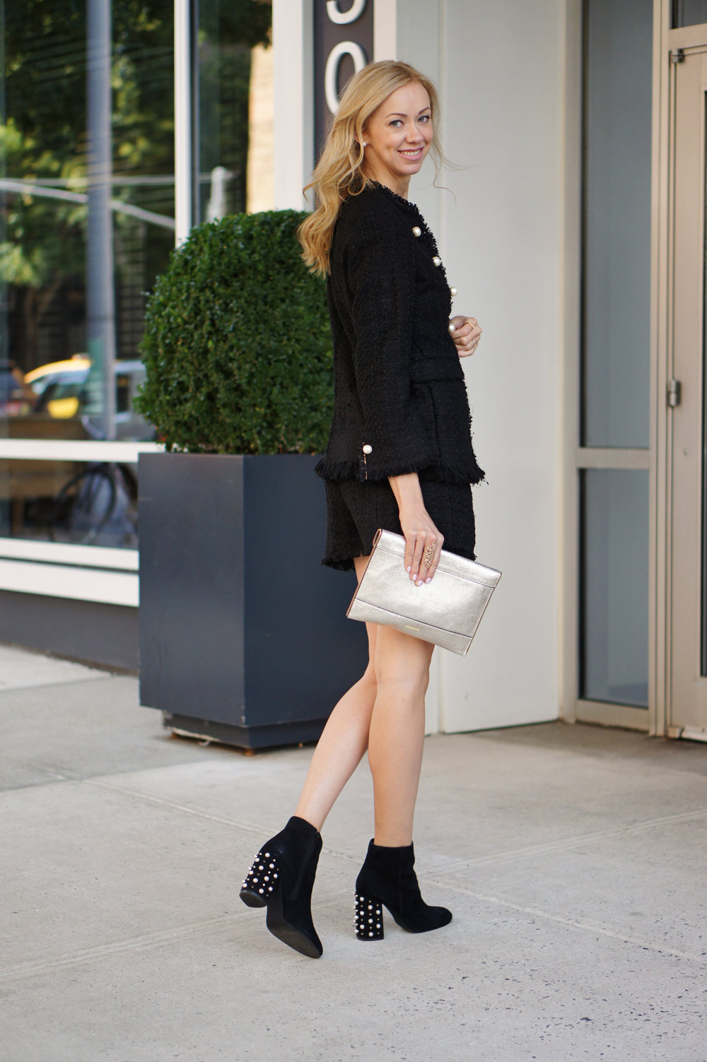rebecca-minkoff-leo-clutch-black-boots-zara-tweed-skirt-jacket-black.jpg