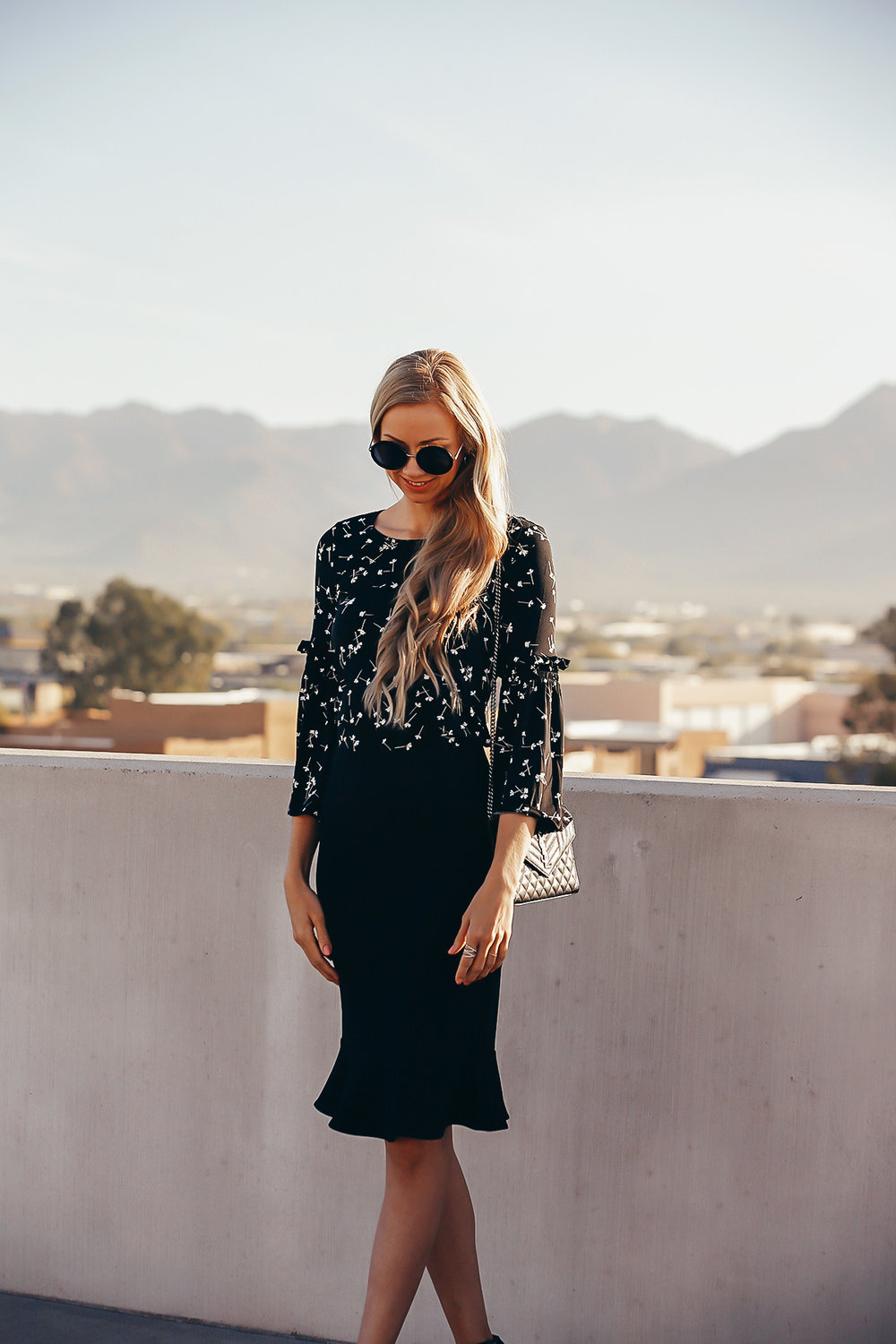 cece-black-fitted-skirt-ditsy-sleeve-top.jpg