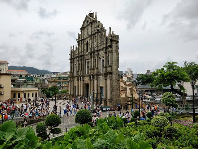Ruins of St.Paul's.  _________ The old area of Macau definitely stands out from the other cities in the PRD.
