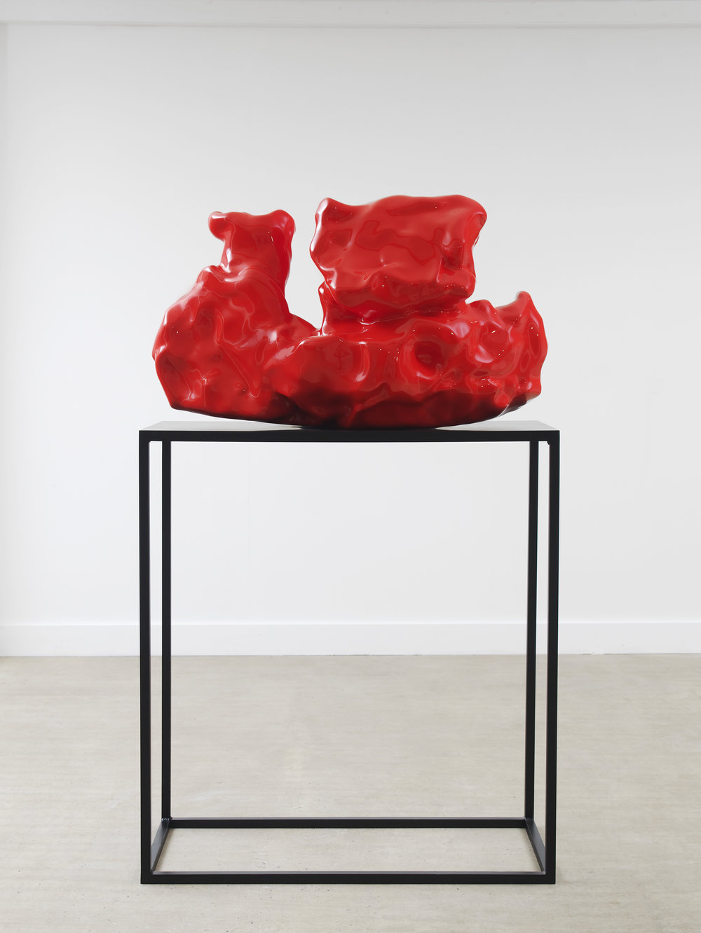 Summa Theologica V,     CNC milled Resin finished in Red, 117x80x55cm Augustine Carr, 2017