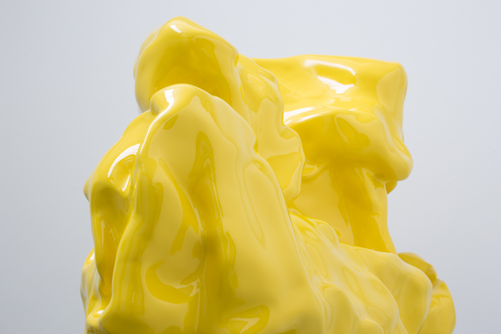 (Detail)   Summa Theologica I ,   CNC milled Resin finished in Yellow, 2016