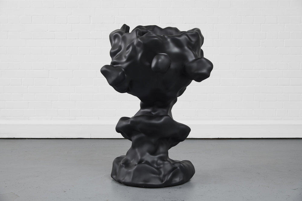 Augustine Carr ,  Glanz  , CNCed SikaBlock finished in Black, 133x87x86cm, 2017