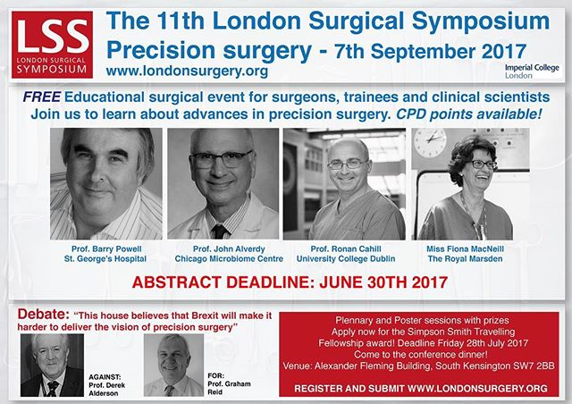 Speakers announced for #LSS2017! Come and present your research in London. Oh... did we mention it was FREE?! #surgery #chirugie #medicine #innovation #science #medstudentlife #medstudent #medschool #operatingroom #MD #surgicaltech #surgicalresident #FRCS #MRCS #surgerylife