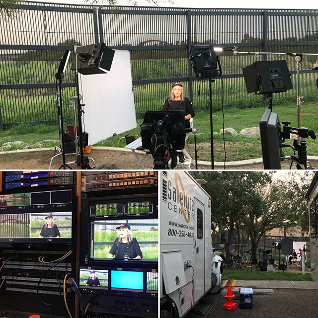 The Satellite Center is uplinking the latest news stories on immigration from the US/Mexico Border with Democracy Now's Amy Goodman. Stay tuned as we catch the hottest topics and reports affecting current events. Call us to cover your story from anywhere in the US 504.466.DISH