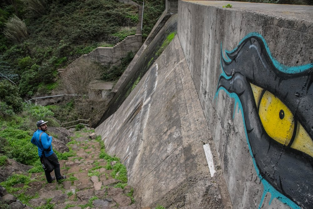 Dam walls.
