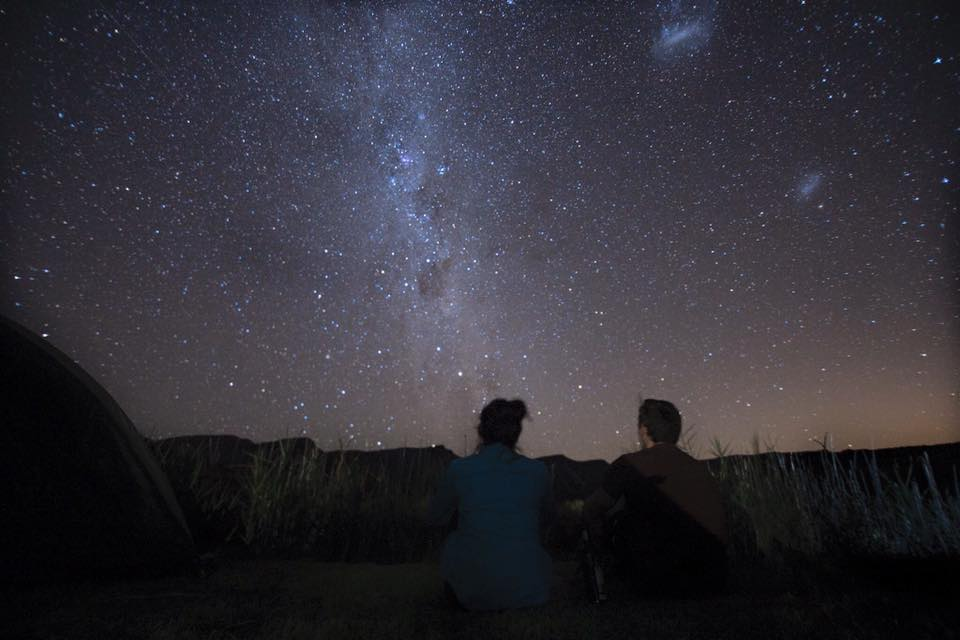 Star gazing in the  cederberg Wilderness area , south africa.  Photo Credit:  Lishen ye
