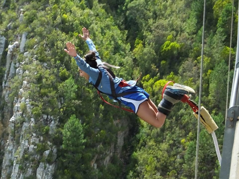 Me jumping off of Bloukrans Bridge
