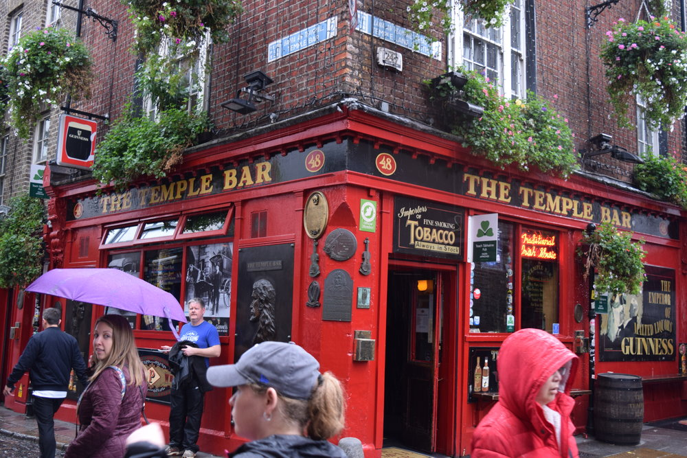 Stopping for a break in the Temple Bar area