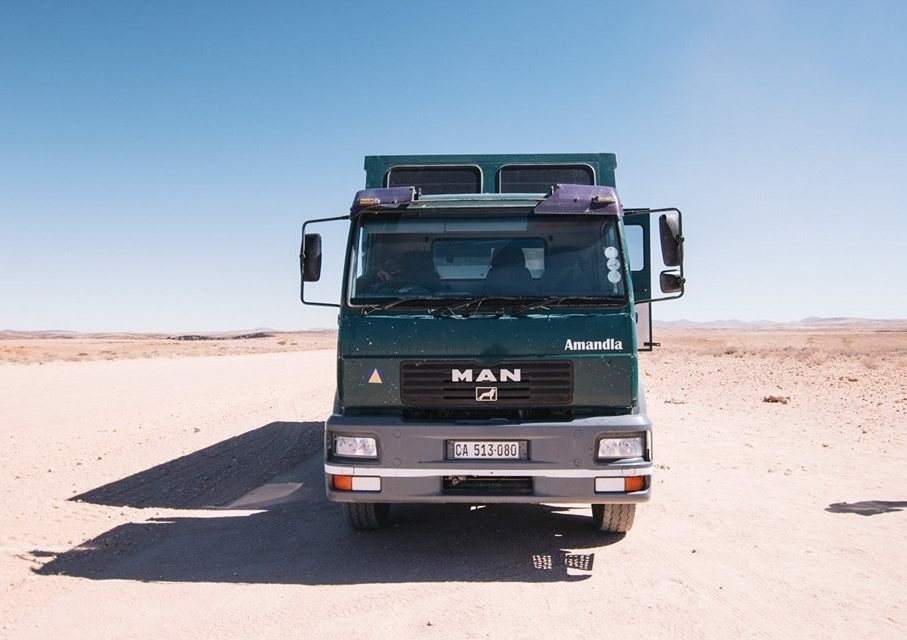 Overlander in the middle of the desert   Photo Credit: VACorps