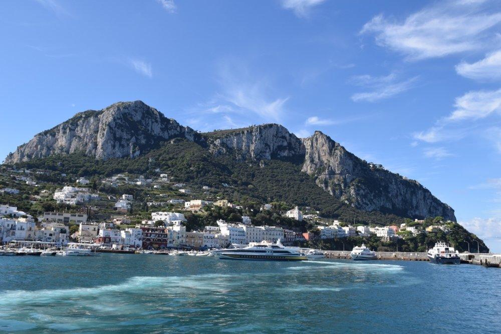 The Ferry Port in Capri