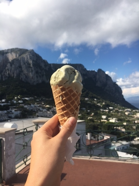 Best gelato of my life in Capri