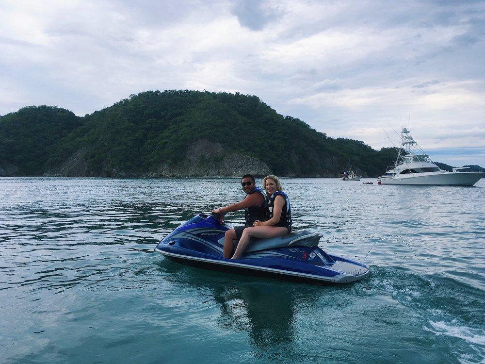Jet-skiing around Isla Tortuga