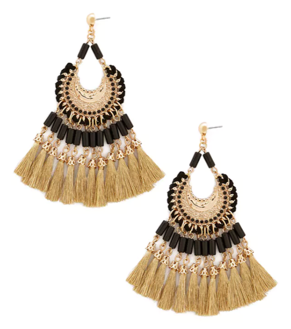Ornate Tassel Drop Earrings