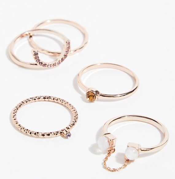 Heartstone Ring Set $32.00