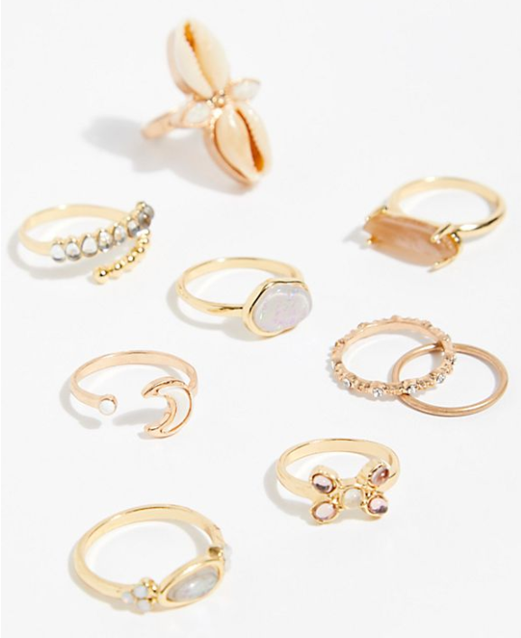 Everything Ring Set Shell Combo $38.00