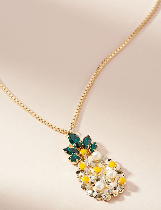 Mini Pineapple Pendant Necklace $88.00