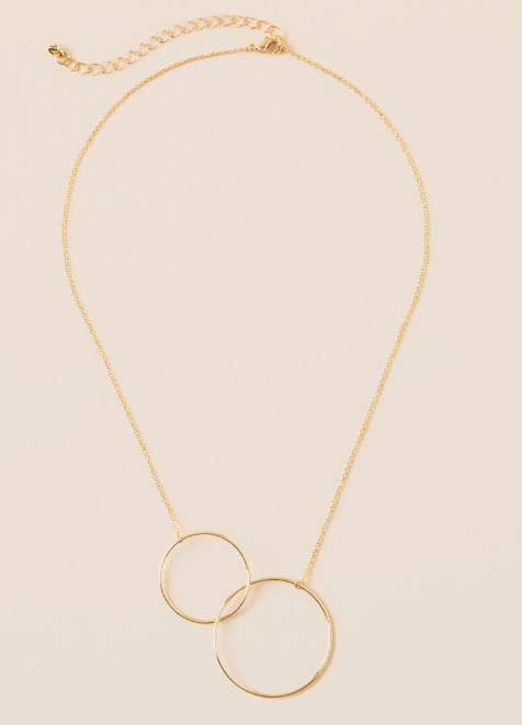 Noxall Circle Pendant Necklace $18.00