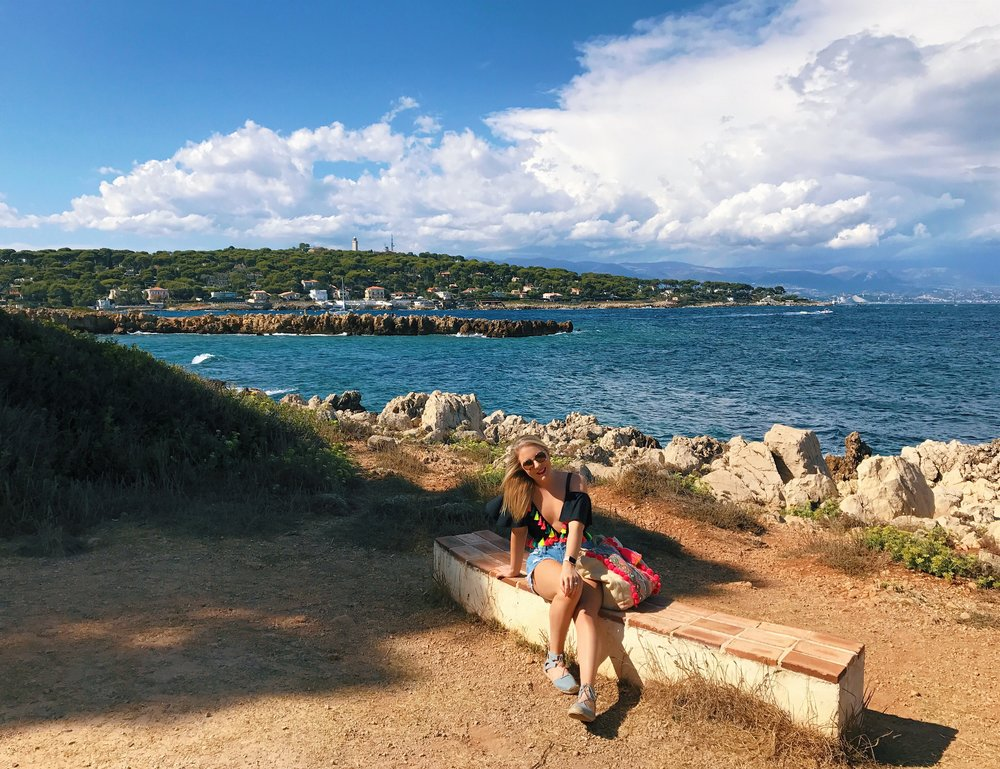 Starting our hike along the Cap D'Antibes