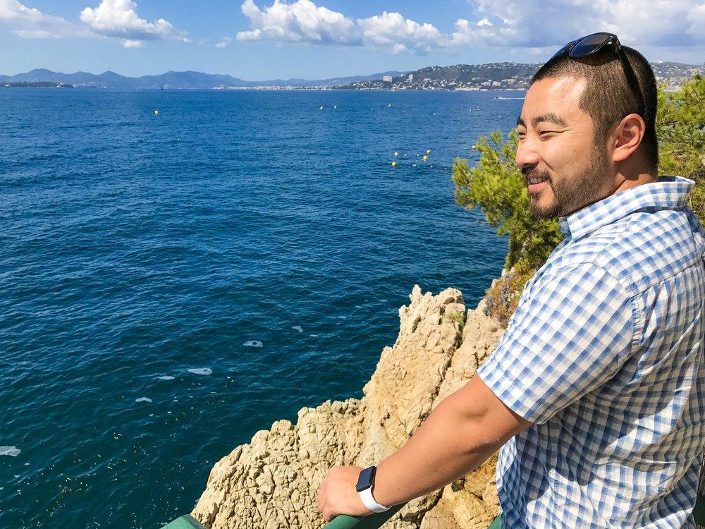 View of the Côte d'Azur from Hotel du Cap-Eden-Roc