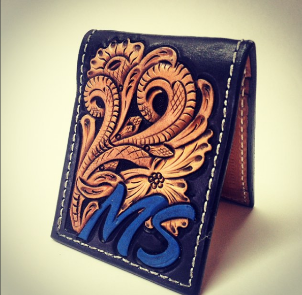 custom leather wallet CDK leather