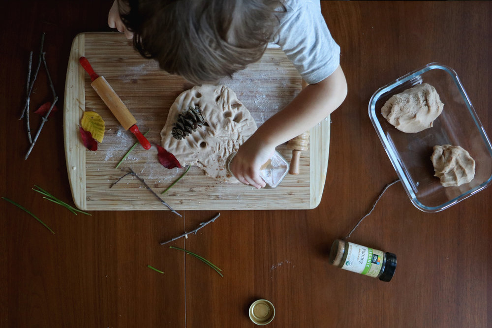 cinnamon nutmeg homemade playdough | root + dwell
