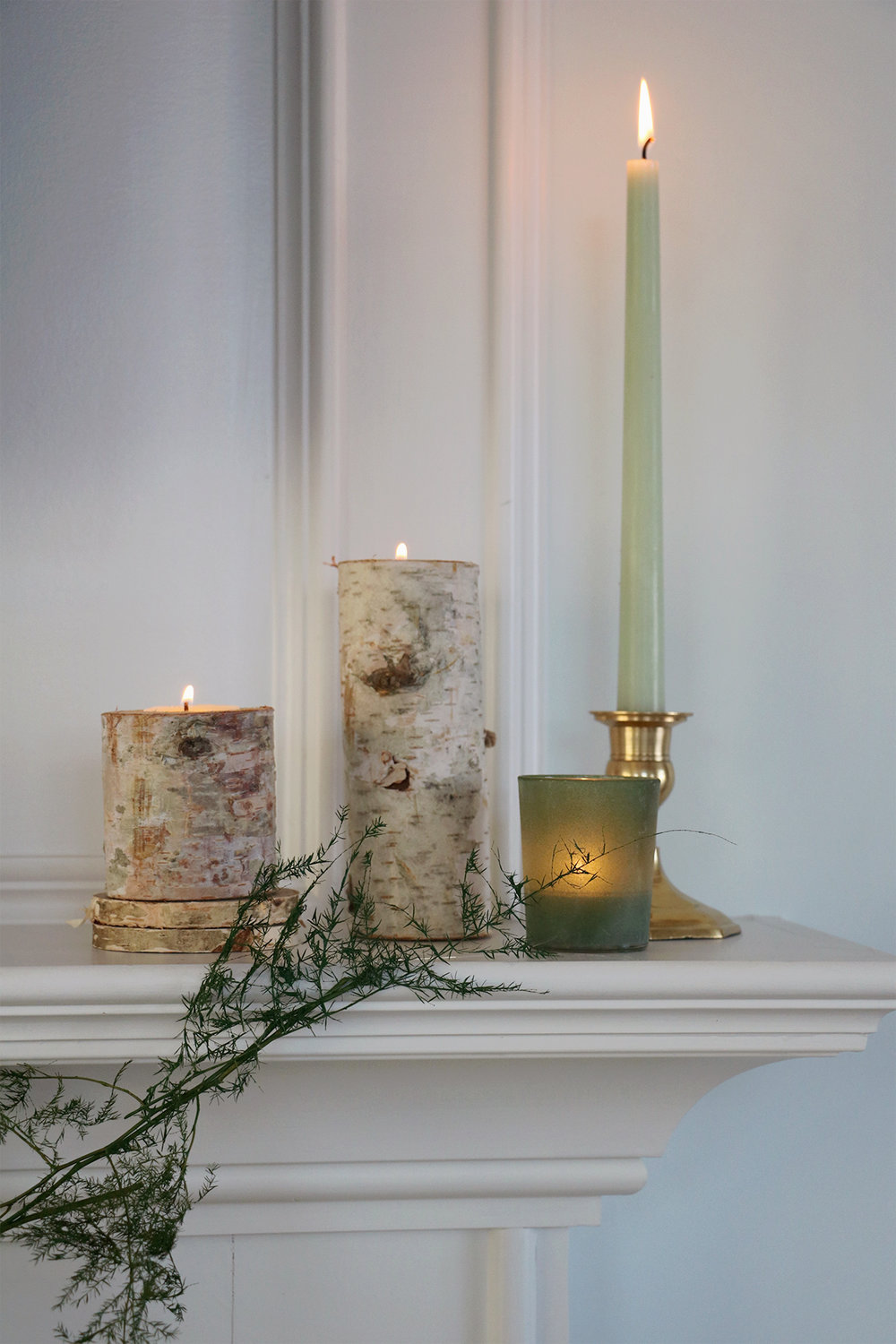 How to Create a Non-Holiday Winter Mantle and a DIY Flora Garland