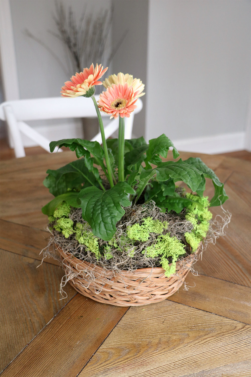 flower basket spring centerpiece or hostess gift | root + dwell