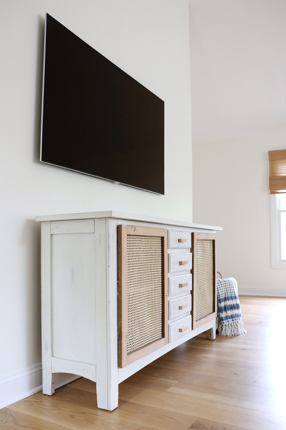 media console furniture makeover | root + dwell