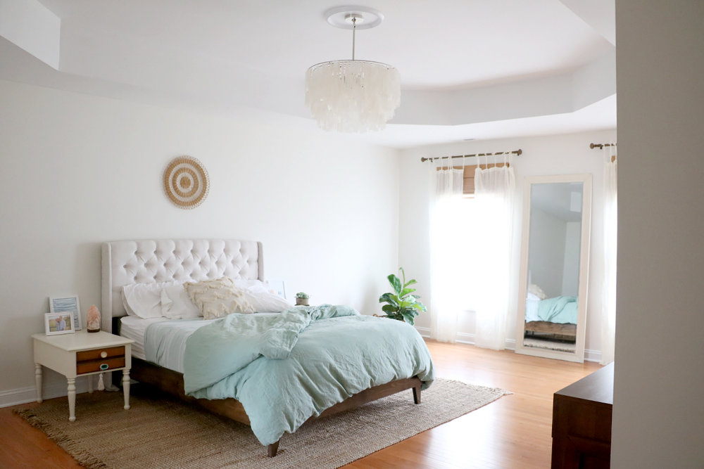 A Fresh + Serene Master Bedroom