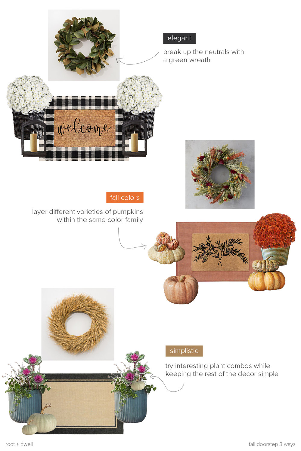 Get the Look: Fall Doorstep 3 Ways | root + dwell