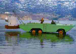 Laying the Pipe with WW II Amphibious Duck