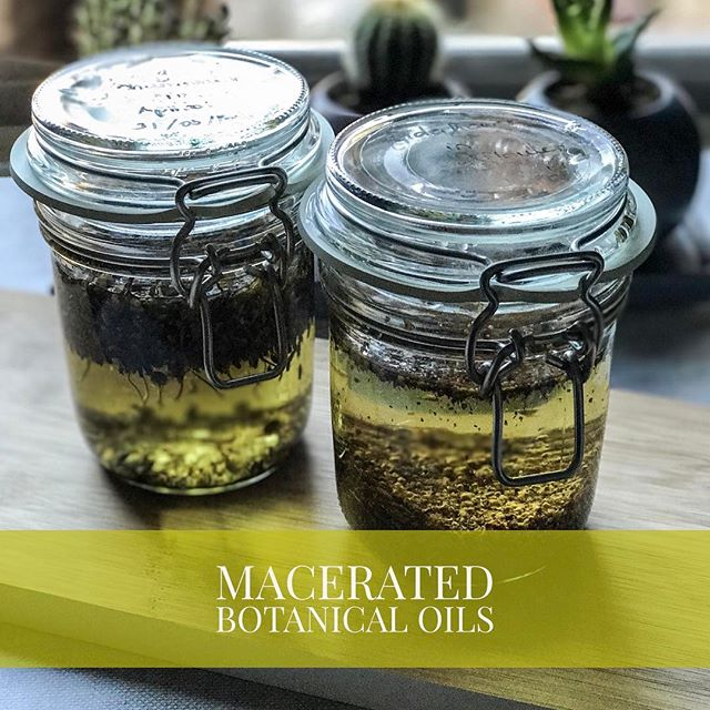 One of the easiest ways to add some botanicals to your natural and organic skincare products is using macerated oils. They are easy to make at home, you can use one or more herbs of your choice. Here I have a chamomile and lavender macerated oil and another where I infused elderflower in apricot oil. The best oils to use are those with long shelf life such as sunflower, apricot or almond oil and you need to ensure your herbs are all dry. Now these beauties need to be filtered and can be used in skincare or haircare products.  #naturalskincare #organicskincare #greenbeauty #halalskincare #maceration #londonworkshop #diybeauty #diyskincare #beautyoil #veganskincare