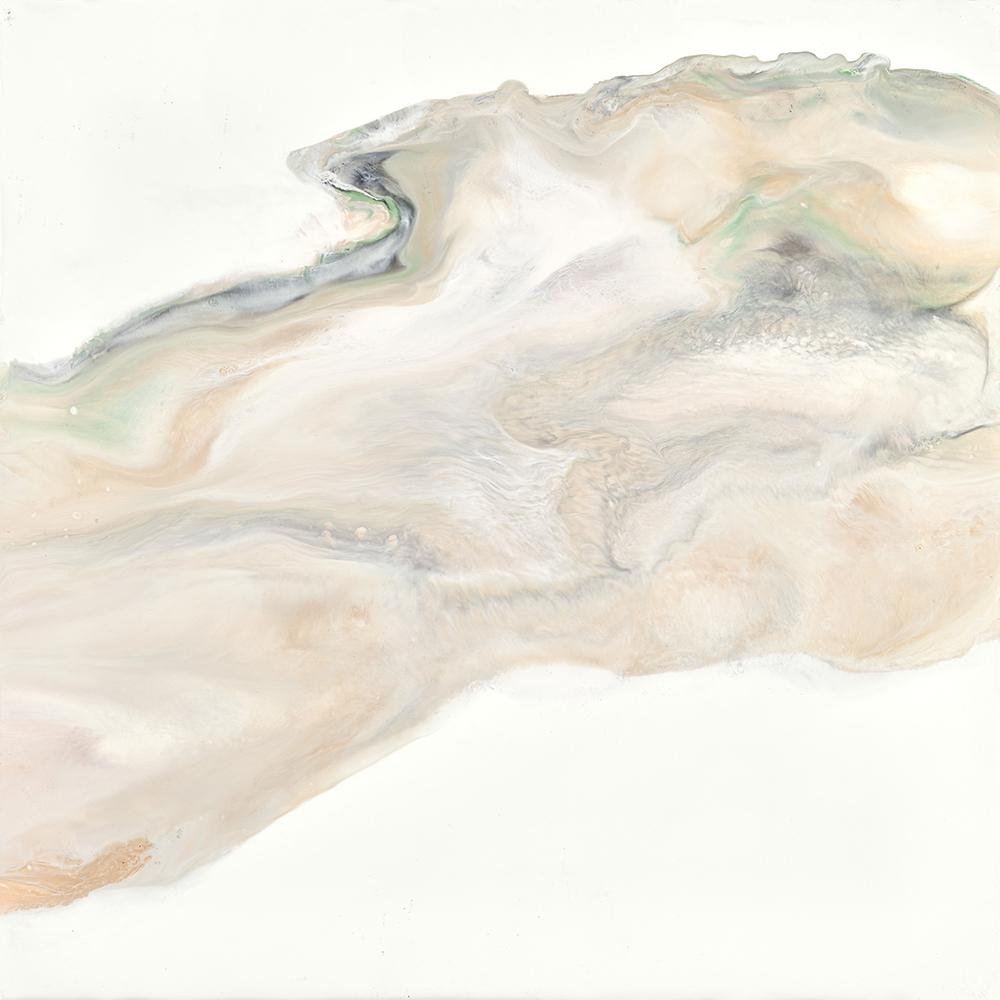 "Inside my brain, 2016 Encaustic 12""x12"" Sold"