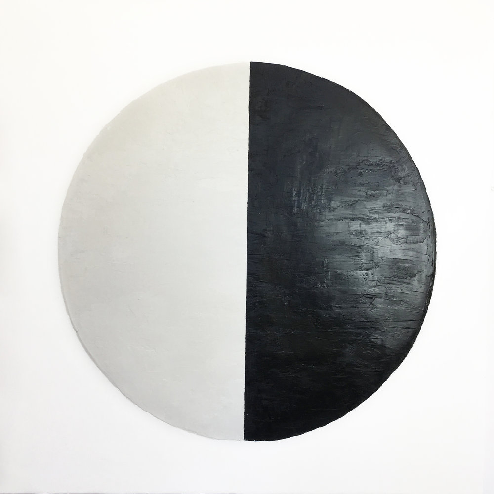 "Lunar Phase 2  Encaustic  36""x36""   SOLD"