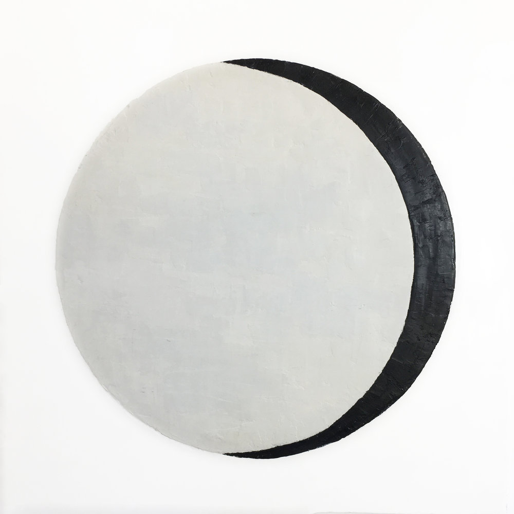 "Lunar Phase 1  Encaustic  36""x36""    SOLD"