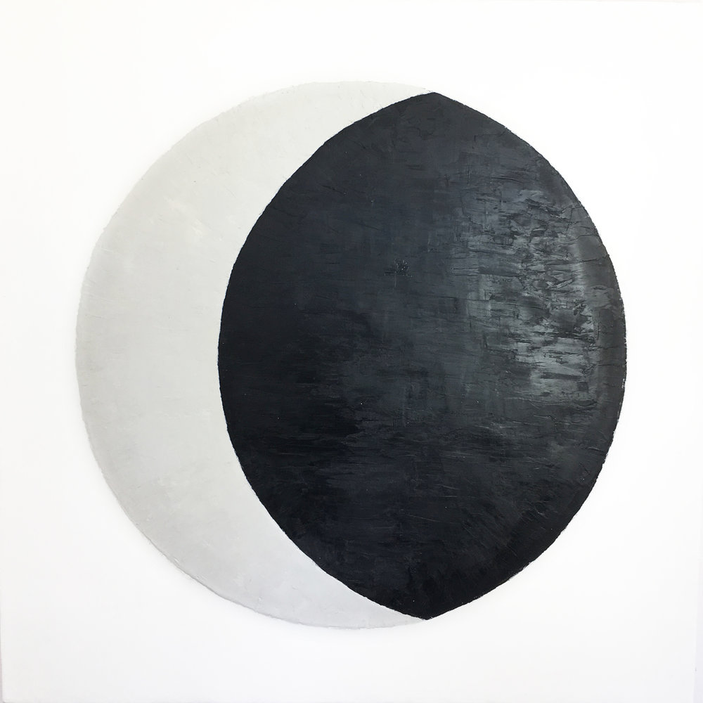 "Lunar Phase 3  Encaustic  36""x36""    S OLD"