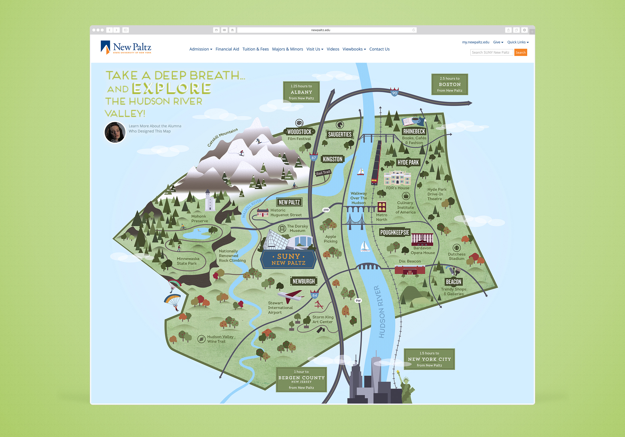 Suny New Paltz Ulster County Map — Cinder Design Co