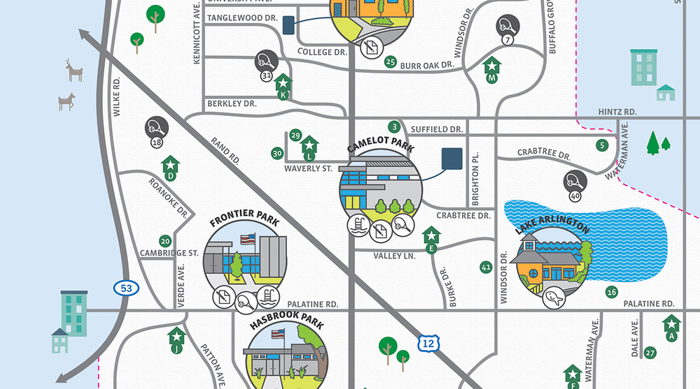 Arlington Heights Park District Map Cinder Design Co