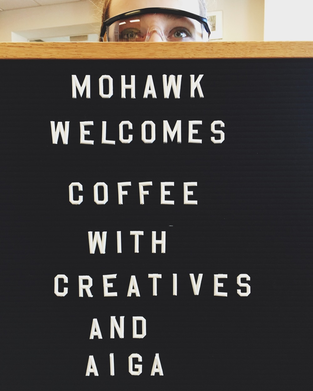 Mohawk Paper welcomes us to the Cohoes NY office.