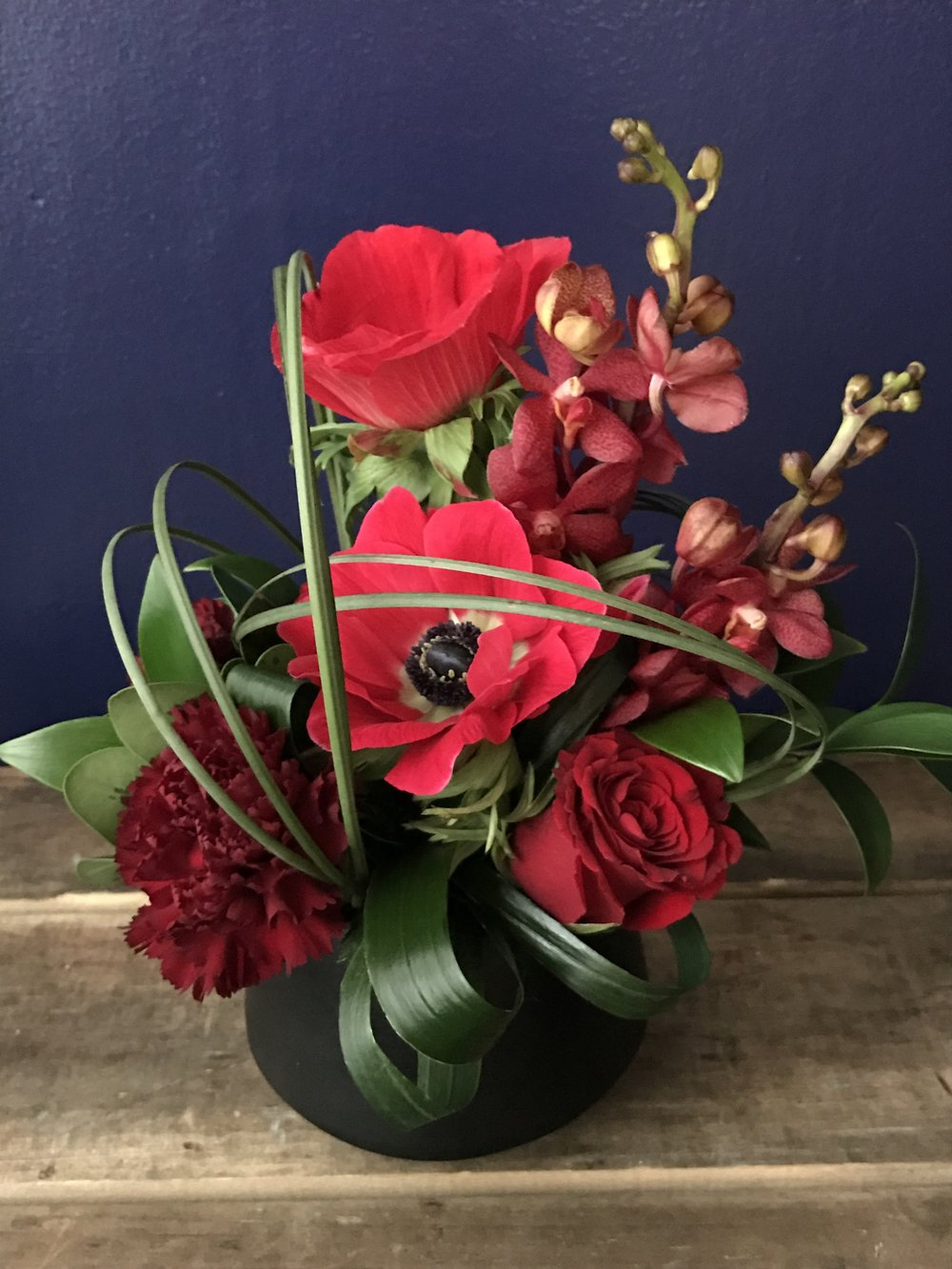 Ikebana in Red