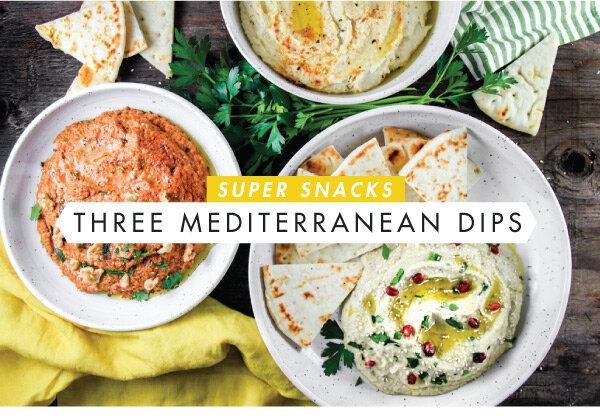 Super Snacks Three Mediterranean Dips Kiss The Cook Wimberley