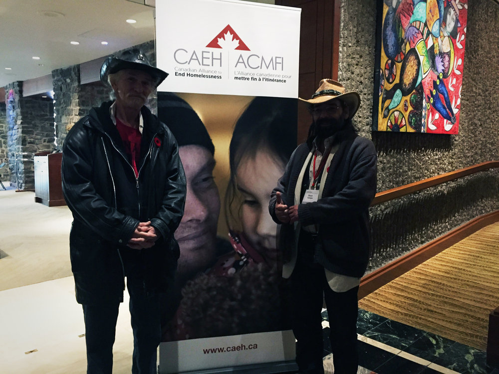 WOODY AND BRUCE AT THE MONREAL CONFERENCE, CAEH
