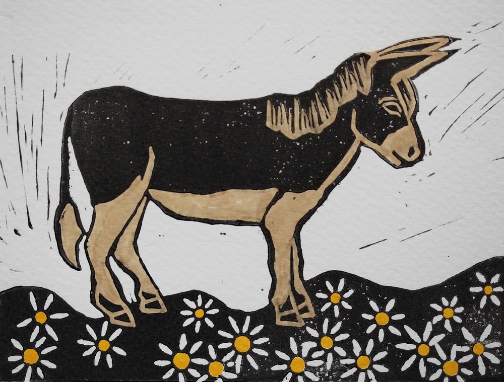 Linocut Donkey.jpg